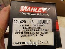 Manley Valve Spring Set 221420-16 NexTek Light Weight Drag Race 780 lbs/in Dual