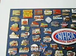 NHRA 1986-2004 National Events Championship Drag Racing Custom Framed Pin Set