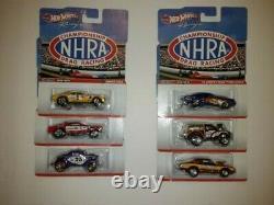 New 2012 HOT WHEELS RACING NHRA DRAG RACING COMPLETE SET OF (6)
