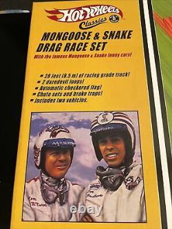 New Sealed Hot Wheels Classics Mongoose & Snake Drag Race Set