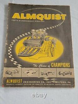 Original 1957 58 Almquist HOT ROD & Custom Catalog Drag Racing NHRA