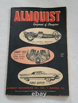 Original 1959 Almquist HOT ROD & Custom Catalog Drag Racing NHRA