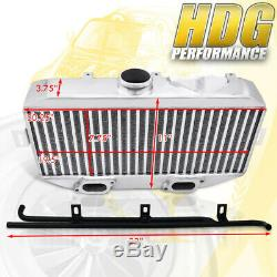 Polished Top Mount Intercooler Bolt On TMIC Racing For 02-07 Subie WRX STI GD GG