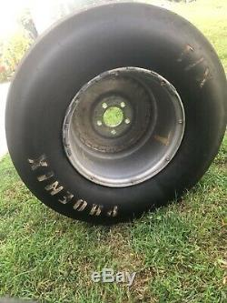 Pro Drag Racing Slick Tires-Set Moroso and Phonix. Will not ship