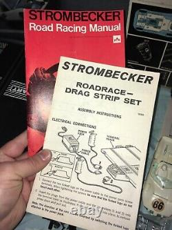 RARE 1966 Strombecker Road Race Drag Strip Set More Than 100% COMPLETE