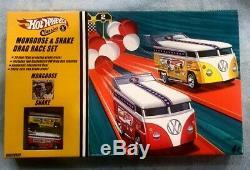 RARE Hot wheels Classics MONGOOSE & SNAKE VW DRAG BUS RACE SET New Sealed 1/64