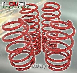 Red Coil Drop Racing Suspension Lowering Springs Set For 2005-2014 Ford Mustang