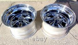 Set of 2 Vintage Keystone Raider Mag Wheels 15X10 Gasser Drag Racing Chevy NHRA