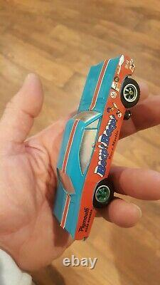 Shutdown Plymouth Super Stock Drag Racing Slot Car Set Complete With Box Vintage