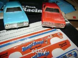 Shutdown Plymouth Super Stock Drag Racing Vintage Slot Car Set With Box