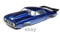 Team Losi Racing LOS230092 69' Camaro Painted Body Set Blue 22S Drag Car