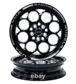 VMS RACING FRONT & REAR DRAG WHEELS SET 4X100/4X114 15x8 and 15x3.5