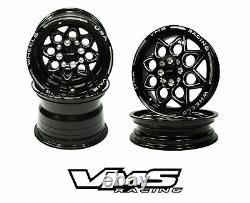 VMS RACING ROCKET BLACK FRONT & REAR DRAG WHEELS SET 4X100/4X114 13x9