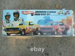 Vintage Hot Wheels The Snake Mongoose Drag Racing Set 1969