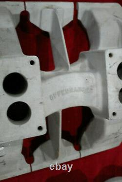 Vintage OFFENHAUSER Intake Manifold 303 324 OLDSMOBILE 2x4 4v Hot Rod Custom old