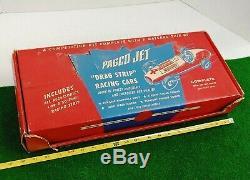 Vintage Pagco Jet Wind-Up Race Cars'2504 Drag Strip Set WithOriginal Box RARE