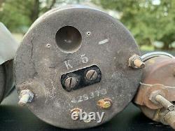 Vintage Stewart Warner Green Line Gauge Set With Speedometer, Tachometer 3-3/8