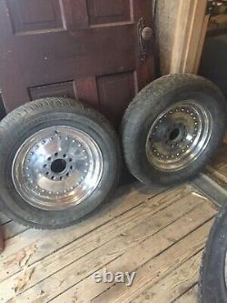 Vintage set Centerline Drag racing wheels universal 5 lug classics 15