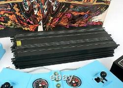Vtg 1968 shutdown! PLYMOUTH SUPER STOCK RACING SET Slot Car Drag Strip WORKING