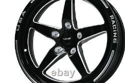 X4 Vms Racing V-star Drag Rims Wheels 18x9.5 +35 5x100 For Toyota Corolla