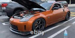X4 Vms Racing V-star Drag Rims Wheels 18x9.5 +35 For Nissan 370z / Infiniti G37