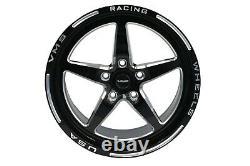 X4 Vms Racing V-star Rims Wheels Set 18x9.5 +35 5x114 For 16-21 Honda CIVIC Si