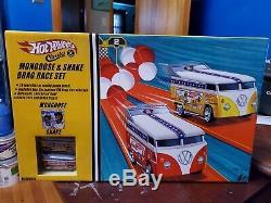 1/64 Hot Wheels Classics Mongoose & Serpent Vw Drag Bus Race Set Nouveau Sealed