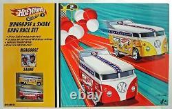 1/64 Hot Wheels Vw Drag Bus Voitures Hot Wheels Mongoose Snake Race Set