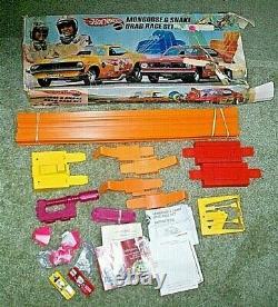#1960s Mattel Hot Wheels Mongoose & Snake Funny Car Drag Race Set In Box