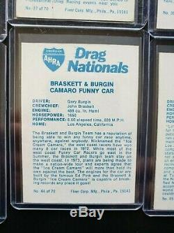 1972 Fleer Ahra Nationals Faites Glisser Set Complet De 70 Cartes Ex-nm