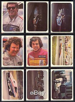 1972 Fleer Ahra Officiel Drag Champs Du Canada Carte Partielle Set Lot De 27/70