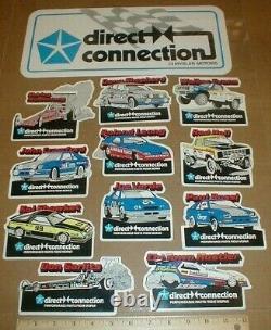 1983 Direct Connection Mopar Pickup Truck Dodge Drag Racing Autocollant Ensemble
