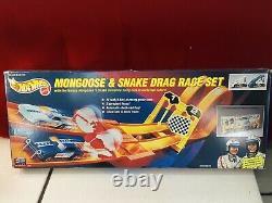 1993 Hot Wheels Mongoose & Snake Drag Race Set New In Box Minor Shelf Wear