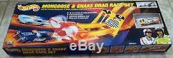 1993 Mattel Hot Wheels Limited Nouvelle Mongoose Et Serpent Drag Race Set Vhtf Rare