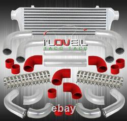 2.5 Support Avant Intercooler + 12pcs Turbo Piping Diy Kit + Coupler Rouge + Pinces