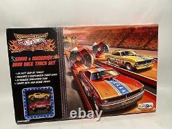 2009 Hot Wheels Drag Strip Démons Snake & Mongoose Drag Race Set Scelled