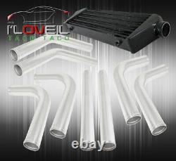 28 Black Fmic Front Mount Intercooler 2.5 T6061 Kit De Tuyauterie En Aluminium
