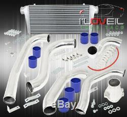 86-91 Mazda Rx7 Fc Jdm Performance Intercooler + Piping Kit Coupler Pinces Bleu