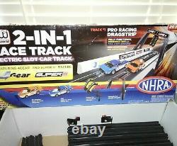 Auto World 2 En 1 Race Track Drag Race Et Stock Car Race Track