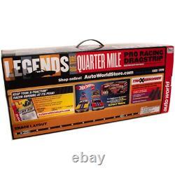 Auto World Srs332 13' Legends Of The Quarter Mile Drag Slot Race Set Ho Scale