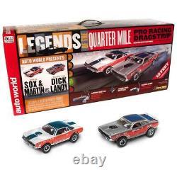 Auto World Srs332 13 'legends Du Quart De Mile Drag Slot Race Set Sortie Soph