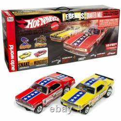 Awd # 33003 Snake Vs Mongoose Drag Slot Car 13' Racing Set Ho Mib