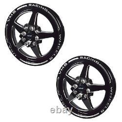 Black Star Drag Racing Wheels Jantes 2x 15x3.5 Et10 2x 15x8 Et20 5/100 5/114 73.1