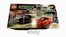 Chevrolet Camaro Champions Lego Speed drag Race Noir Rouge 445 Pièces 75874 Nisb