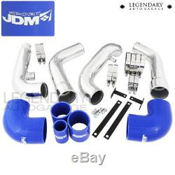 Convient 89-94 Nissan 200sx Turbo Bleu Aluminium T6061 Intercooler + Set De Tuyauterie