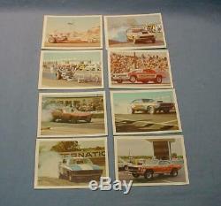 Etr Drag Officiel Champs 1971 Fleer Près Set 62/63 Trading Cards Nm