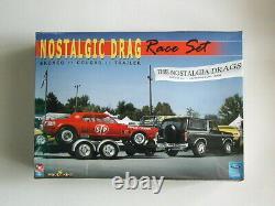 Factory Sealed Nostalgic Drag Race Set By Amt/ertl Pour Le Modèle King #21713p
