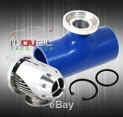 Fmic Frontale Intercooler + Chrome + Bov Coupleurs En Silicone + Aluminium Piping