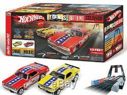 Ho Slot Car Piste Auto World Hot Wheels Serpent Vs Mongoose Drag Racing Set