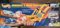 Hot Wheels 25e Anniversaire Mongoose Et Serpent Drag Race Set 11644 Nos